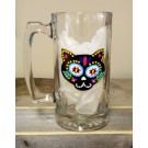 Hispanic Dia de los Muertos Day of Dead Cat Beer Mug
