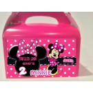Qty 4 Minnie Mouse, Personalized, Party favor boxes, Candy Goodyboxes
