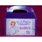 Qty 4 Sofia The First, Party Favor Party Goody Box