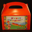 Qty 4 Lego, Personalized, Party favor boxes, Candy Goody boxes