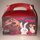 Qty 4 The Secret life of pets Goody Boxes, Party Favors, Birthday
