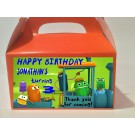 Qty 4 Favor Goody Boxes, Treat boxes, Birthday Storybots