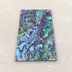 "Thick 1.5mm(0.059"") Natural Paua Abalone Flat Shell Blank Scale Sheet Slab Inlay Material - 45 x 78 x 1.5mm"