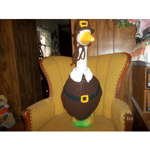 Pilgrim Thanksgiving Geese Goose Crochet Dress Lawn Garden Outfit Outdoor Decor