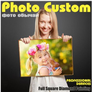 customize photo diy diamond painting full dril portrait paint on canvas family picture pet lover poster design 50cmx60cm