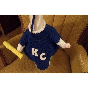 Kansas City Royals Baseball Geese Goose Outfit Crochet Lawn Goose Clothes Garden Decor Outdoor Decor