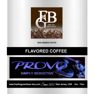 PROVO Simply Seductive Flavored Coffee, Whole bean roasted coffee,12oz