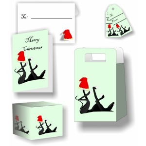 Christmas Hound Stationery Set