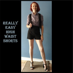 Really Easy High Waist Shorts Sewing Pattern