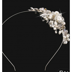 Bridal Headpiece,  Wedding Headpiece,  Bridal headband,  Pearl Rhinestone headband