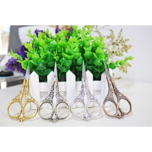 Small Vintage Style Sewing Scissors Embroidery Crane Lily Scissors Stork Scissors - Bronze