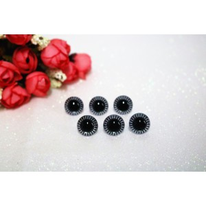 14mm Transparent Crystal Plush Toy Animal Eyes Safety Owl Eyes - 3 pairs / 6 pcs