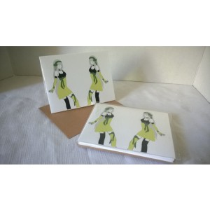 Idols by Jessica Renner Color Japanese Style Manga Pop Culture Boxed Set of 5 Blank Notecards w/Envelopes