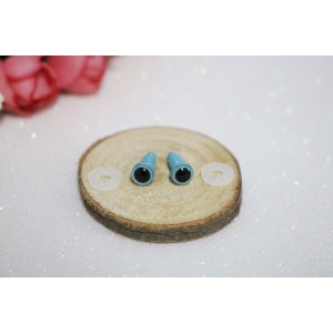 6 mm Blue Glitter Soft Toys Craft Animal Eyes Handicraft Plastic Stuffed Toy Eyes