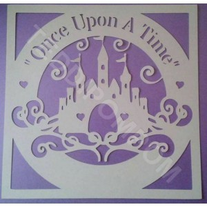 """Once Upon A Time"" Disney Princess Castle SVG Frame"
