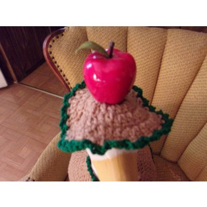 Apple Geese Goose Outfit Crochet Garden Statue Clothes Outdoor Patio Decor