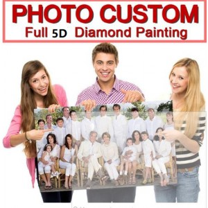 customize photo diy diamond painting full dril portrait paint on canvas family picture pet lover poster design 30cmx40cm
