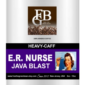 "E.R.NURSE, Java Blast Coffee ""With X-tra caffeine to jumpstart your day."" 12oz"
