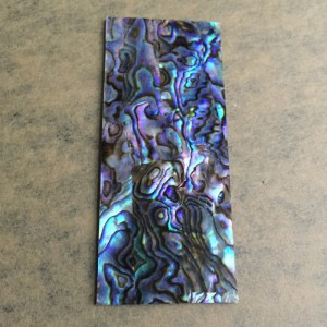 "Thick 1.5mm(0.059"") Natural Paua Abalone Flat Shell Blank Scale Inlay Material - 33 x 78 x 1.5mm"