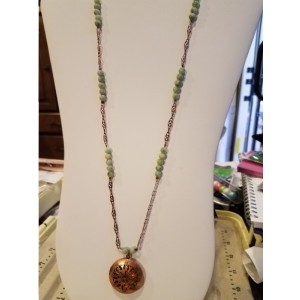 Long Copper Locket