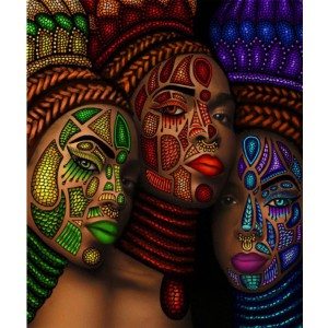 african women 5d diamond painting full round drill picture mosaic drawing diamond dots poster beauty poster on canvs 30x40cm