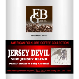 Jersey Devil, the New Jersey Blend of Peanut Butter and Salty Caramel brings you a delicious, candy-like flavored coffee. 12oz