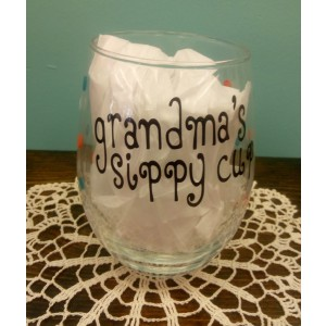 Grandma's Sippy Cup Stemless Wine Glass