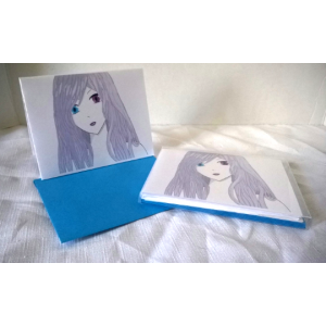 Alissa-Color Digital Art Blank Notecards w/Envelopes Boxed Set of 5 Original Design