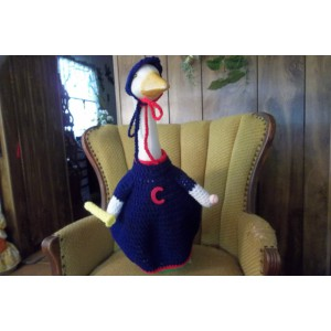 Cleveland Indians Baseball Geese Goose Outfit Crochet Lawn Goose Clothes Garden Decor Patio Decor