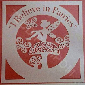 I Believe in Fairies svg frame, Disney, Tinker Bell, cricut, silhouette , scrapbooking, papercutting, card making
