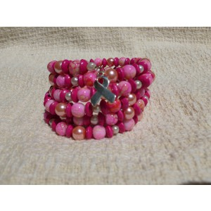 Pretty in Pink Memory Wire Bracelet