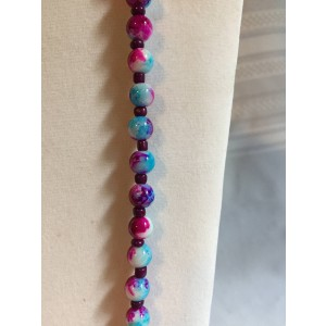 Bright Multi Colored Beaded Necklace