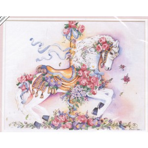 Dimensions Carousel Horse, Modern No Count Cross Stitch Kit