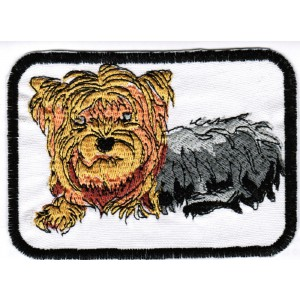 Yorkie Patches, Yorkshire Terrier Dog Lover Patch, Machine Embroidered