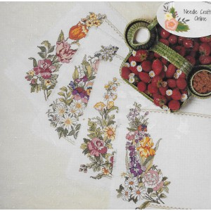 Candamar Placemats Counted Cross Stitch DIY Placemats Mixed Floral Kit 50686