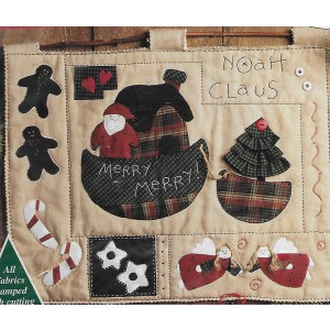 Bucilla Patchwork Quilt Noah Claus Craft Kit Holiday Wall Hanging Applique DIY