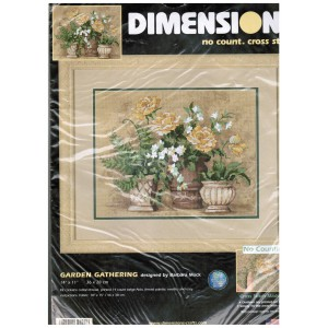 Dimensions No Count Cross Stitch Kit Garden Gathering Floral Design Made Easy 39022