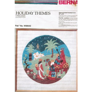 Bernart Quickstitch Christmas Kit, Vintage Three Kings Christmas Quick Stitch Needlework Kit, DIY Craft