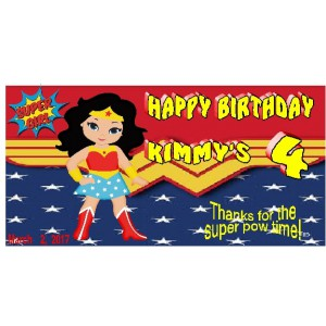 qty 4 Goody Boxes Super Hero Wonder Woman Birthday