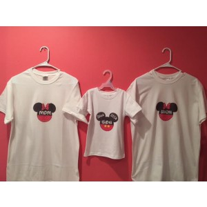 T-shirts, Iron-on, Family, Mom, Dad, Daughter, Son, Disney, MinnieMouse,Mickey Mouse