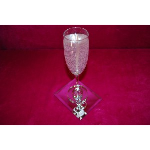 Gel Candles, Champagne, Flutes, Romance, Wedding, Anniversary,Party