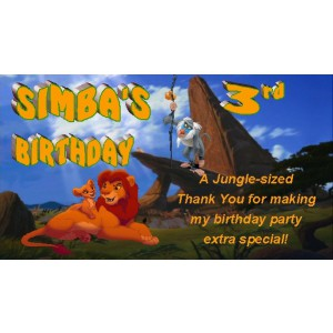 Qty 4 Lion King Candy Favor Goody Boxes