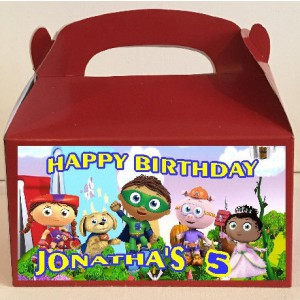 Qty 4 Goody Boxes, Favor Boxes, Candy Favors Super Why