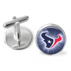 Houston Texans football cuff links, Texans football, playoffs,groomsman gift, NFL football accessories, sporty gift, Made in USA