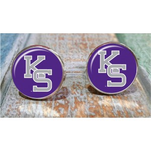 Sporty gift,Kansas State Willie Wildcat , cuff links. Kansas StateWildcats , Kansas sports, college sports