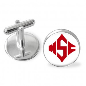 NC State Wolfpack inspired cufflinks. North Carolina Wolf Packcollege cuff links.