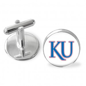 Sporty gift, Kansas University Jayhawks inspired , cuff links.Kansas Jayhawks basketball, Kansas University sports, SEC