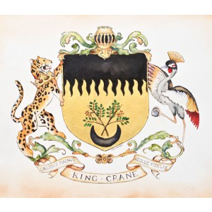 Hand painted Historical Coat of arms - celebrate your family with a historical family crest
