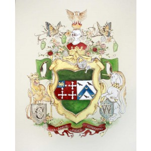 "Custom Family Crest / Original Coat of Arms - 11"" by 14"" custom coat of arms"