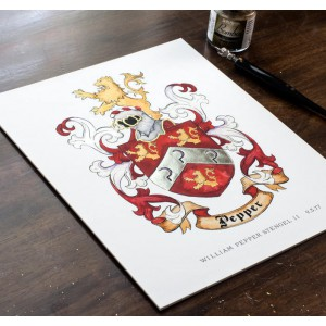 Family Coat of Arms or Custom Family Crest - Create a coat of arms- Digital family crest and custom art print